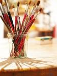 【レジン】筆の使い方やコーティングするパーツ(紙・花)の塗り方